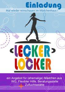 """Flyer mit Einladung für das Angebot """"Lecker + Locker"""""""