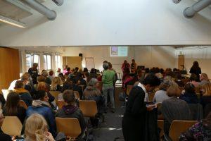 Teilnehmerinnen des bundesweiten Mädchenhaustreffens in Bielefeld im November 2018