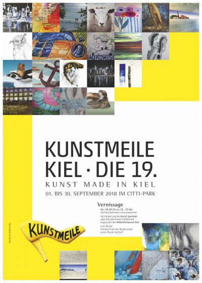 Plakat der Kunstmeile Kiel 2018